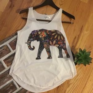 Colorful Elephant Tank Top